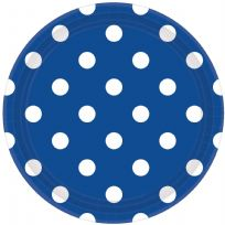 Royal Blue Dots Paper Plates (8)